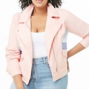 Brand New Forever 21 Pink Jean Jacket XL